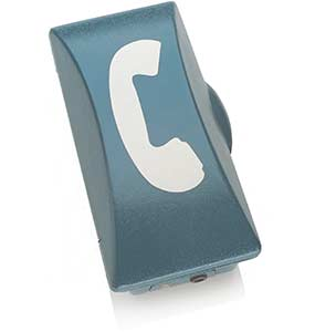 Emergency Telephone case showing front of central battery/hotline unit